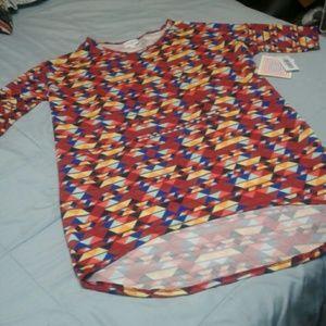 Lularoe Irma Tunic Shirt Geometric XXS